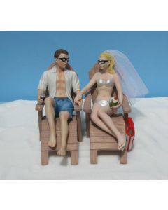 Beach Chairs Wedding Cake Topper by Magical Day